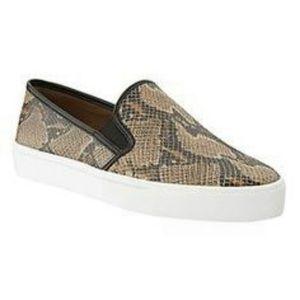 Banana Republic Snake Skin Print Sneakers Sz 11